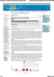 Outbreak of trichinellosis due to consumption of bear ...