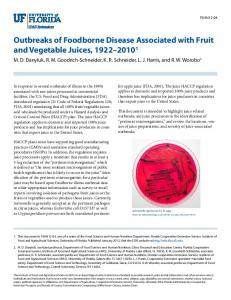 Outbreaks of Foodborne Disease Associated with ... - UC Food Safety