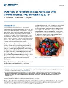 Outbreaks of Foodborne Illness Associated with ... - UC Food Safety