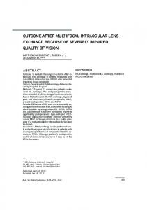 outcome after multifocal intraocular lens exchange ... - Ophthalmologia