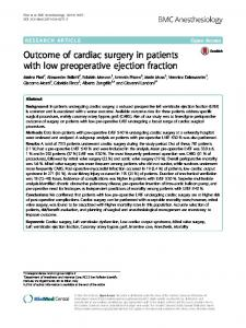Outcome of cardiac surgery in patients with low ... - Semantic Scholar