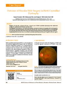 Outcome of Macular Hole Surgery in Bietti ... - Semantic Scholar