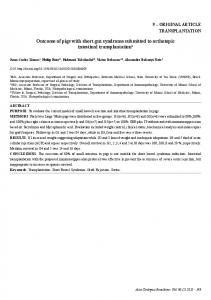 Outcome of pigs with short gut syndrome submitted ... - Semantic Scholar