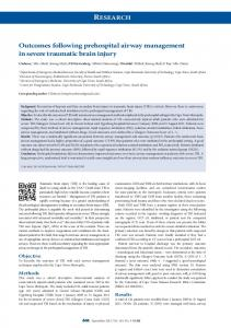 Outcomes following prehospital airway ... - Semantic Scholar