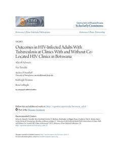Outcomes in HIV-Infected Adults With ... - ScholarlyCommons