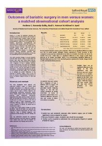 Outcomes of bariatric surgery in men versus ... - Endocrine Abstracts