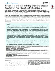 Outcomes of Influenza A(H1N1)pdm09 Virus Infection ... - CDC stacks