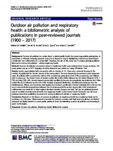 Outdoor air pollution and respiratory health - Multidisciplinary ...