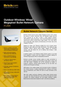 Outdoor-Wireless/ Wired Megapixel Bullet Network Camera H.264