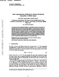 Outer Approximation Methods for Solving Variational Inequalities in ...