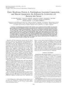 Outer Membrane Protein A, Peptidoglycan-Associated Lipoprotein ...