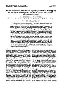 Outer-Membrane Protein and Lipopolysaccharide Serotyping of ...
