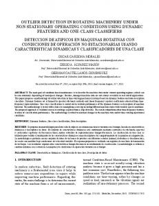 outlier detection in rotating machinery under non ... - SciELO Colombia