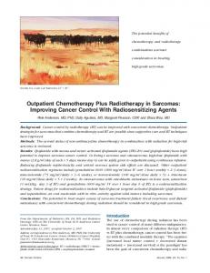 Outpatient Chemotherapy plus Radiotherapy in ... - SAGE Journals