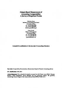 Output-Based Measurement of Accounting ... - SSRN papers