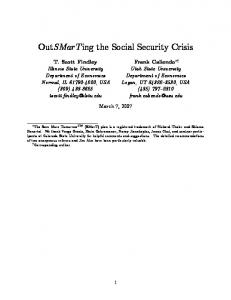 OutSMarTing the Social Security Crisis