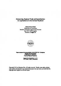 Outsourcing, Regional Trade and Specialization: An ... - AgEcon Search