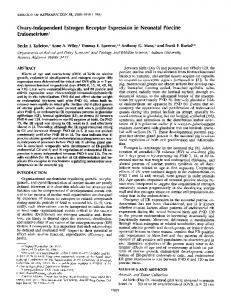 Ovary-Independent Estrogen Receptor Expression in Neonatal ...
