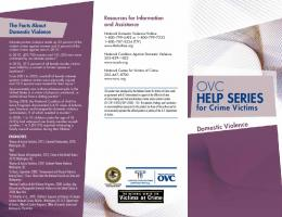 OVC Help Series for Crime Victims: Domestic Violence