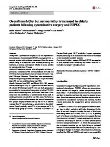 Overall morbidity but not mortality is increased in ... - Springer Link
