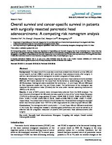 Overall survival and cancer-specific survival in ... - Journal of Cancer