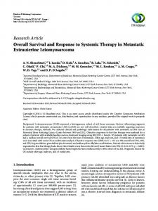 Overall Survival and Response to Systemic Therapy in Metastatic ...