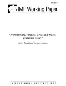 Overborrowing, Financial Crises and - CiteSeerX