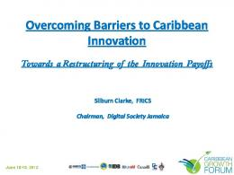 Overcoming Barriers to Caribbean Innovation