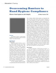 Overcoming Barriers to Hand Hygiene Compliance