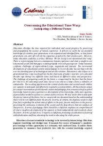 Overcoming the Educational Time Warp - Cadmus Journal