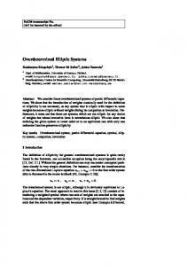 Overdetermined Elliptic Systems - UCI Math