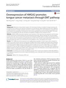 Overexpression of HMGA2 promotes tongue cancer metastasis ... - Core
