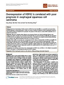 Overexpression of HSPA2 is correlated with poor prognosis in ...