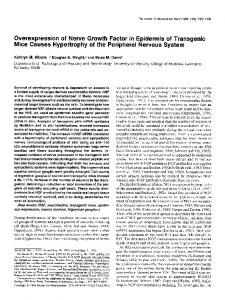 Overexpression of Nerve Growth Factor in Epidermis of Transgenic ...