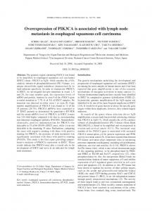 Overexpression of PIK3CA is associated with lymph node metastasis ...