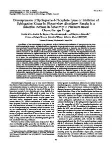 Overexpression of Sphingosine-1-Phosphate Lyase ... - Eukaryotic Cell