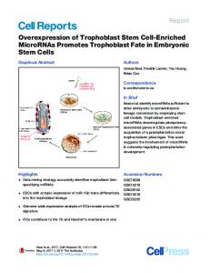 Overexpression of Trophoblast Stem Cell-Enriched ... - Cell Press