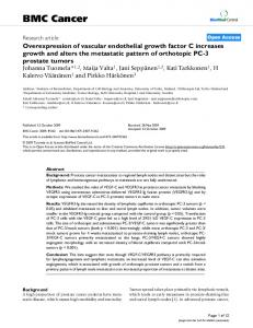 Overexpression of vascular endothelial growth factor C increases ...