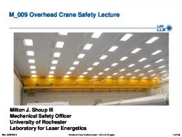Overhead Crane Safety Lecture