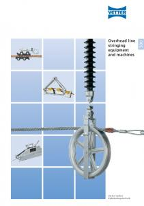Overhead line stringing equipment and machines
