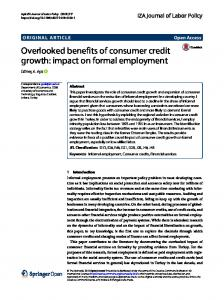 Overlooked Benefits of Consumer Credit Growth: Impact on ...www.researchgate.net › publication › fulltext › Overlooke