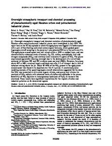 Overnight atmospheric transport and chemical ... - Wiley Online Library