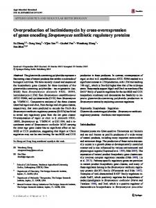 Overproduction of lactimidomycin by cross ...