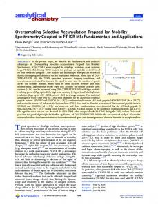 Oversampling Selective Accumulation Trapped Ion ... - ACS Publications