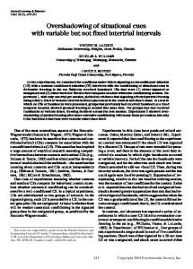 Overshadowing of situational cues with variable but not ... - Springer Link