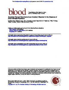 Overt Multiple Myeloma Acquired Fanconi Syndrome Is an Indolent ...