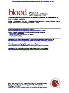 overt multiple myeloma Acquired Fanconi syndrome