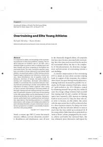 Overtraining and Elite Young Athletes