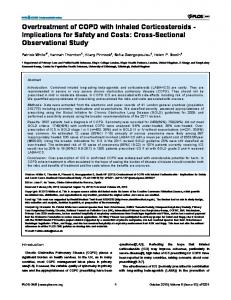 Overtreatment of COPD with Inhaled Corticosteroids - Plos