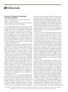 Overuse of Computed Tomography and Associated Risks - AAFP